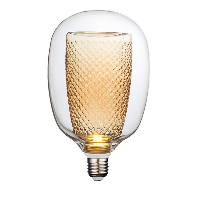 HMB-00019 SPECIAL GLASS DESIGN - BULB IN BULB - G125 T LAMP