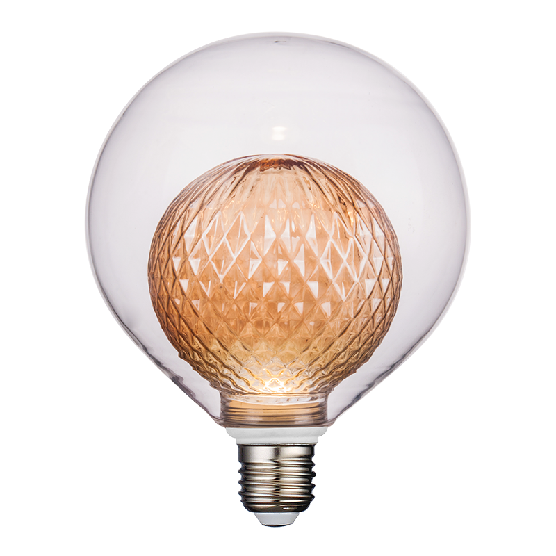 HMB-00015 SPECIAL GLASS DESIGN - BULB IN BULB - G125