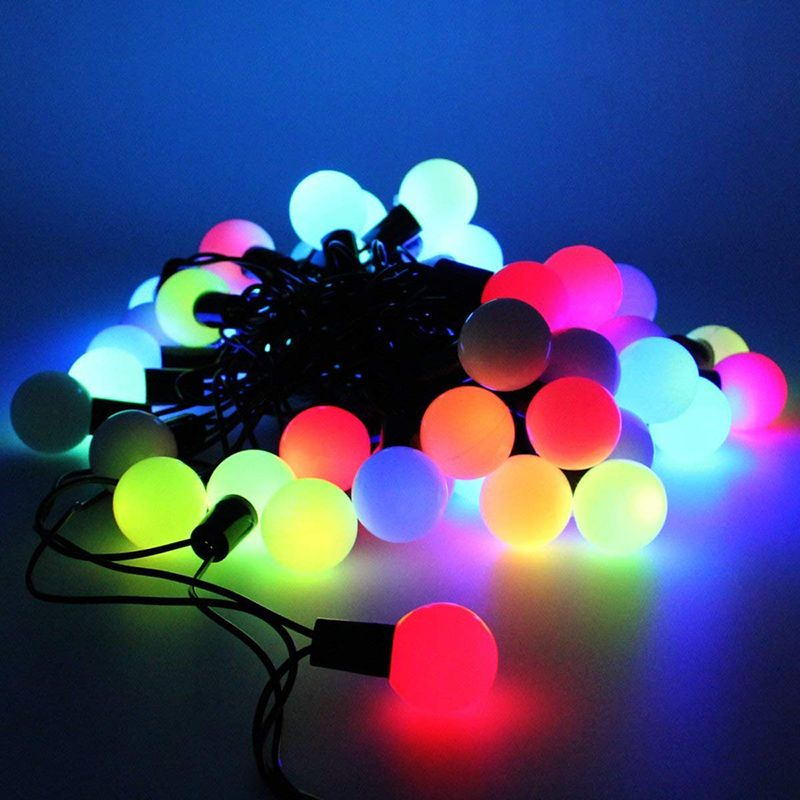 HMSP0005 LED STRING LIGHT WITH BALL, 5V WITH USB PORT